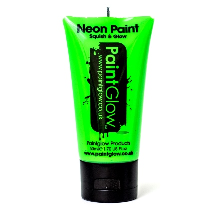 UV Face and Body Paint 50ml - Fard Fluorescent - GREEN