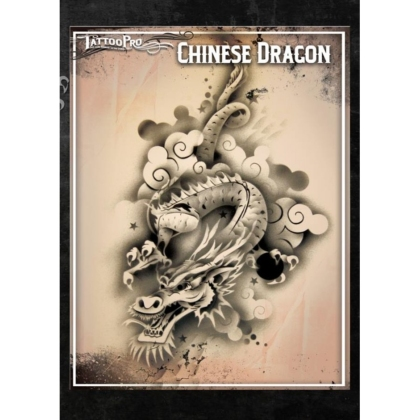 Pochoir Tattoo Pro - Stencils Chinese Dragon