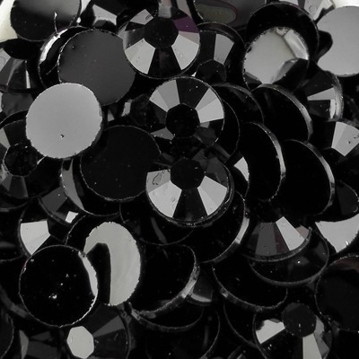 Strass 6mm - 1000 pièces - Multiple Facets Black