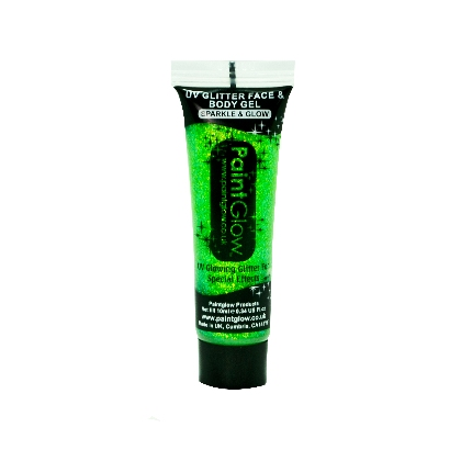 UV Glitter Body Gels - Paillettes Gel UV - 10ml - Mint Green