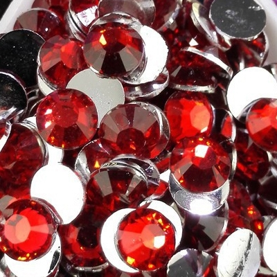 Strass 6mm - 1000 pièces - Multiple Facets Red