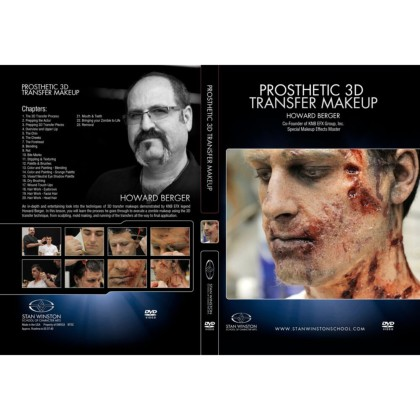 DVD Howard Berger :  Zombie Makeup - 3D Pros-Aide Transfer Application