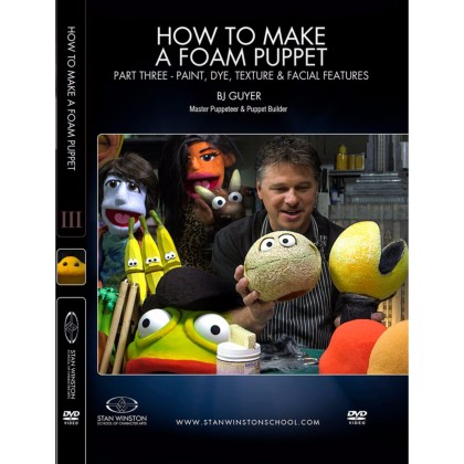 DVD BJ Guyer : How to Make a Foam Puppet Part 3 - Paint, Dye, Texture & Facial Features