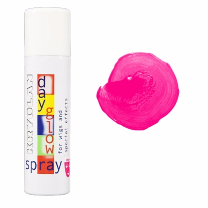 Spray colorant FLUO pour les cheveux UV Day Glow Spray 150ml ROSE