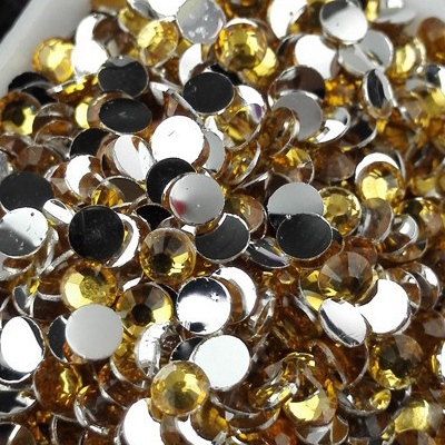 Strass 3mm - 10 000 pièces - Multiple Facets Golden Yellow