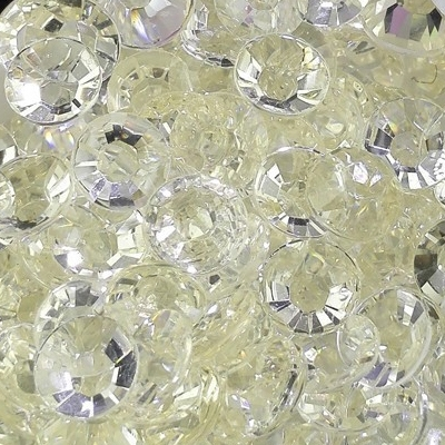 Strass 6mm - 1000 pièces - Multiple Facets Cristal White