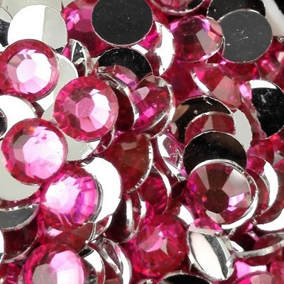 Strass 6mm - 1000 pièces - Multiple Facets Rose