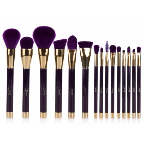 Kit 15 pinceaux violet et dor - Pot pour pinceaux maquillage ...