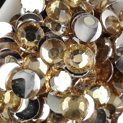 Strass 6mm - 1000 pièces - Multiple Facets Champagne