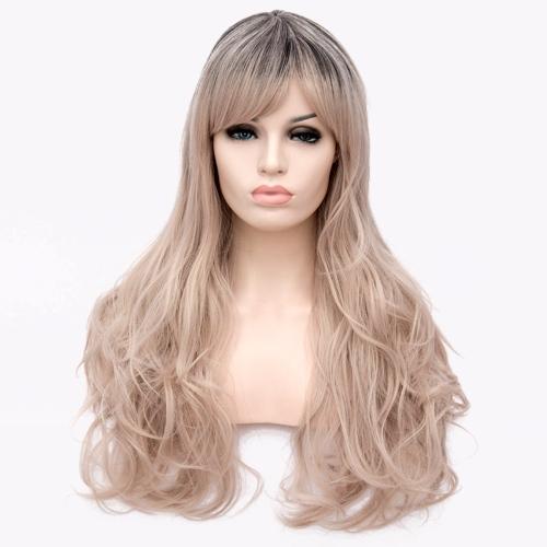 Perruque Blond n°1 cheveux ondulés avec fausse