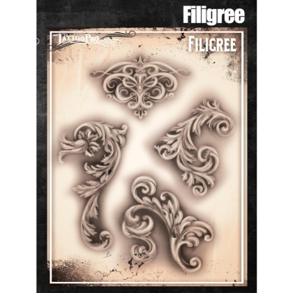 Pochoir Tattoo Pro - Stencils Filigree Arabesques