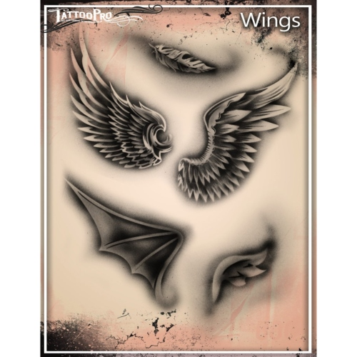 Pochoir Tattoo Pro - Stencils Wings Ailes