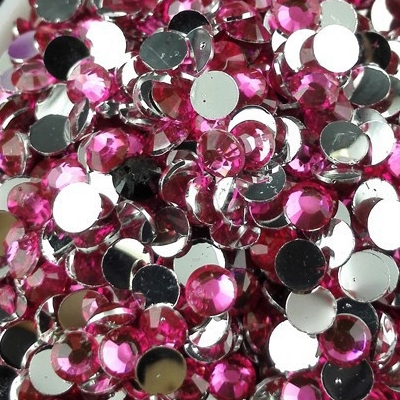 Strass 3mm - 10 000 pièces - Multiple Facets Rose
