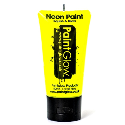 UV Face and Body Paint 50ml - Fard Fluorescent - YELLOW