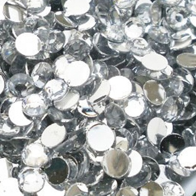 Strass 6mm - 1000 pièces - Multiple Facets Clear