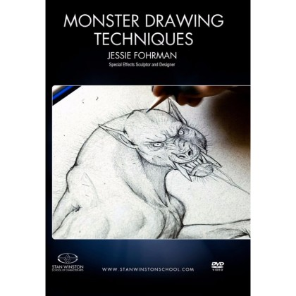 DVD Jessie Fohrman : Monster Drawing Techniques - How To Draw Werewolf