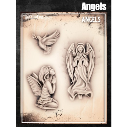 Pochoir Tattoo Pro - Stencils Angels Anges
