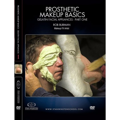 DVD Rob Burman : Prosthetic Makeup Basics - Gelatin Facial Appliances Part 1
