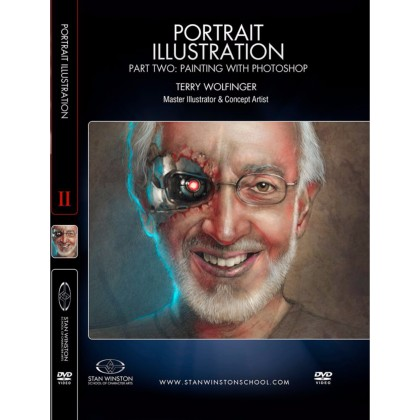DVD Terry Wolfinger : Portrait Illustration - Part 2 - Painting with Photoshop