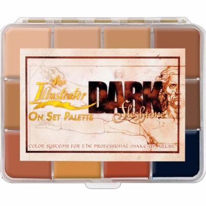 Palette de 12 Fards à Alcool : On Set Dark Fleshtone