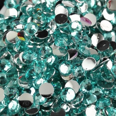 Strass 3mm - 10 000 pièces - Multiple Facets Lake Blue Green