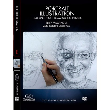 DVD Terry Wolfinger : Portrait Illustration - Part 1 - Pencil Drawing Techniques
