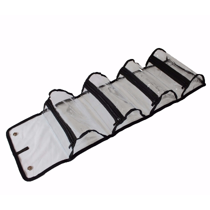 Trousse de maquillage à 4 poches PVC Transparent