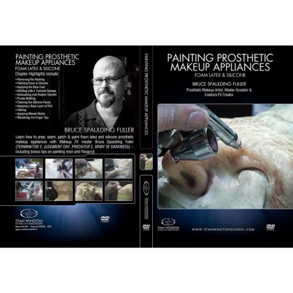 DVD Bruce Spaulding Fuller : Painting Prosthetic Makeup Appliances - Foam, Latex, Silicone