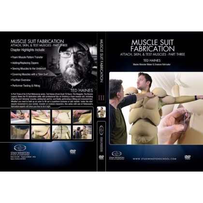 DVD Ted Haines : Muscle Suit Fabrication - Part 3 - Attach, Skin, & Test Muscles
