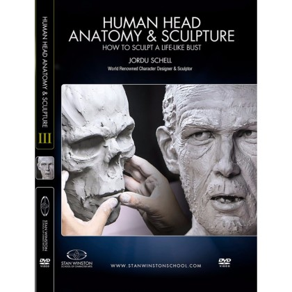 DVD Jordu Schell : Human Head Anatomy & Sculpture