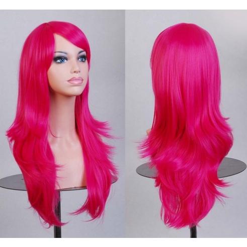 Perruque Rose cheveux longs dégradés 70 cm