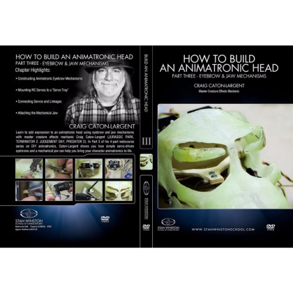 DVD Craig Caton-Largent : How to build an animatronic head. Pt. 3