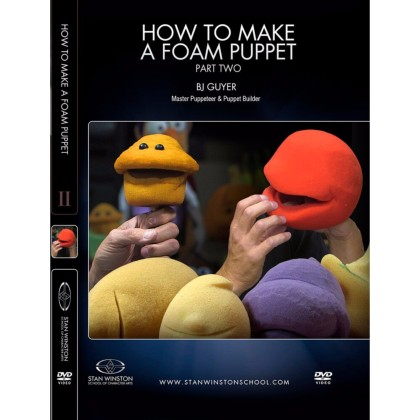 DVD BJ Guyer : How to Make a Foam Puppet Part 2 - Foam Carving & Creating Mechanisms