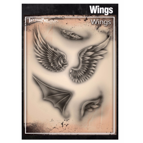 Pochoir Tatoo Pro - Wings