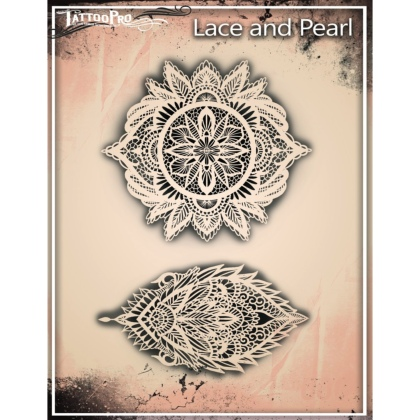 Pochoir Tattoo Pro - Stencils Lace & Pearls Dentelles