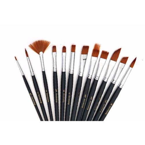 kit de 12 pinceaux pour le maquillage artistique. Black Bedroom Furniture Sets. Home Design Ideas