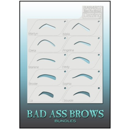 Pochoirs Sourcils BB-BABB-4802 dazzling eyebrow stencils set