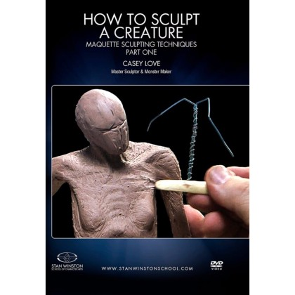 DVD Casey Love : How to sculpt a creature - Maquette Sculpting Techniques - Pt.1