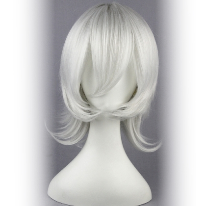 Perruque Blanche cheveux courts
